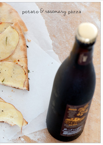 potato & rosemary pizza