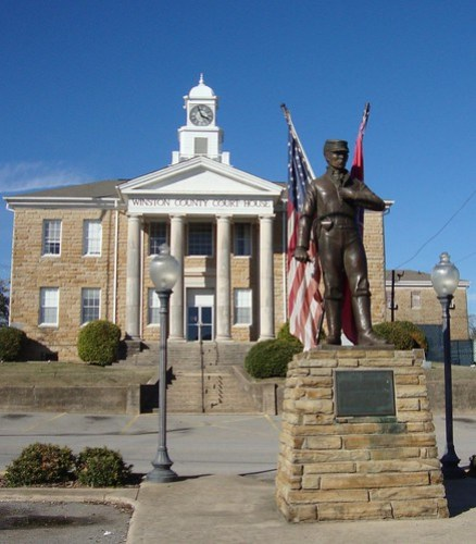 Dual Destiny Monument, Winston County Courthouse, Double Springs AL