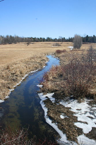 Creek at spring - ice-free!