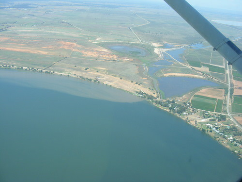 Water flowing into Lake Boga
