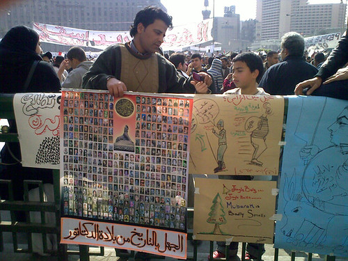 Some of the artwork created in Tahrir Square