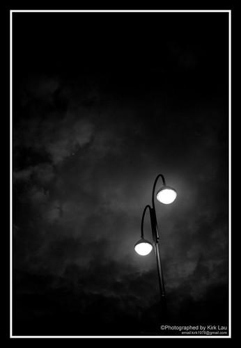 [Street] [HK] [BW] Lonely Street lamp