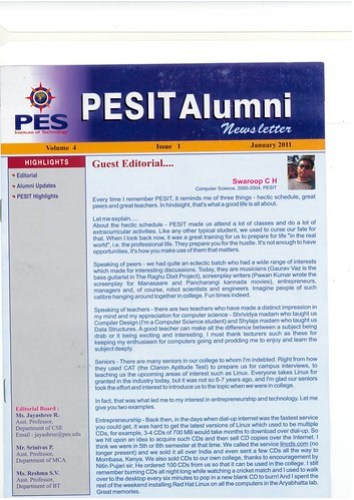 pesit_alumni_newsletter_1
