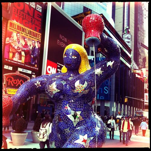 Niki de Saint Phalle sculpture in Times Square