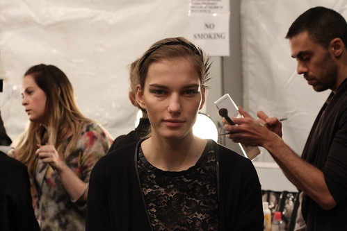 Yigal Azrouel Fall 2011- Backstage (2)