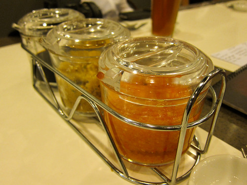 Sauces at Wee Nam Kee