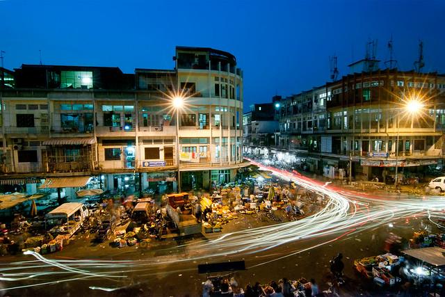 Infront of Orussei Market, Phnom Penh
