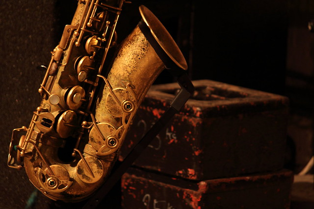 Matana Roberts's saxophone, by Scott McMillan