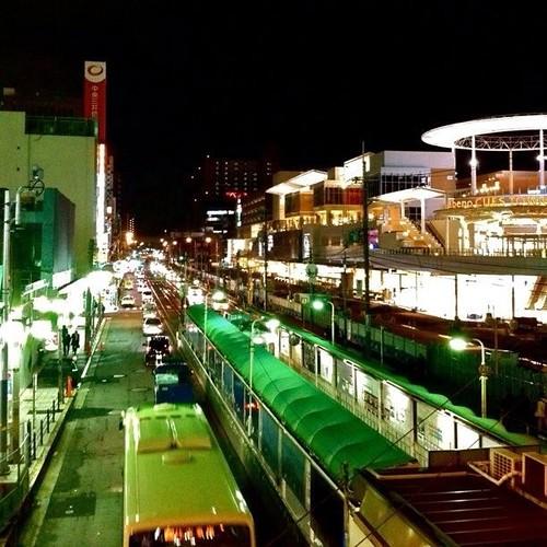 今夜のラストショットです。上町線の天王寺駅前駅だよ~! では、また明日! #Osaka #Abeno #night