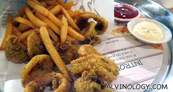 Calamari meal