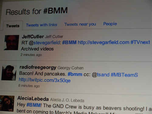 Twittter Results for #BMM at Boston Media Makers 2/6/11