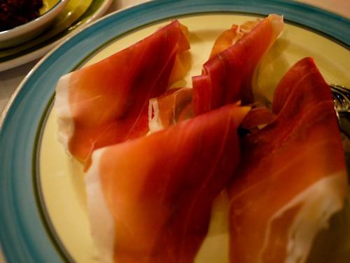 parmen ham with melon