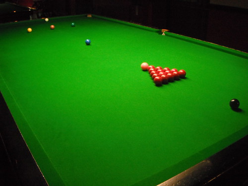 Snooker table ready to play