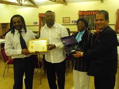 Forum Chair Receiving award