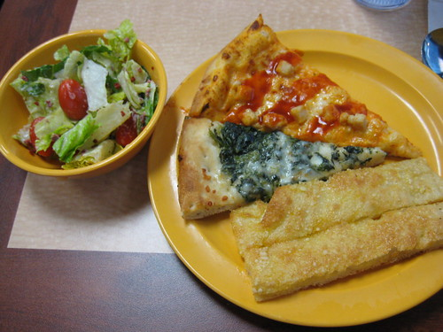 Cici's pizza-salad, pizza, breadsticks