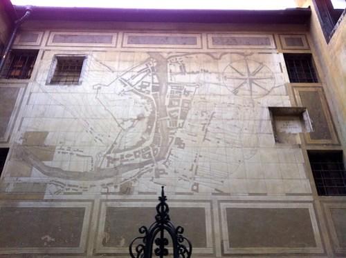 Ljubljana - City Hall Courtyard Map