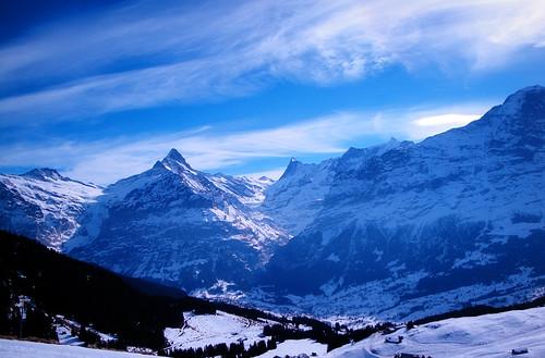 the swiss alps.