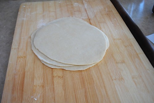 rolled out dough