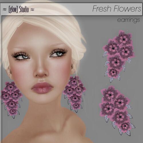 [ glow ] studio Fresh Flowers Earrings