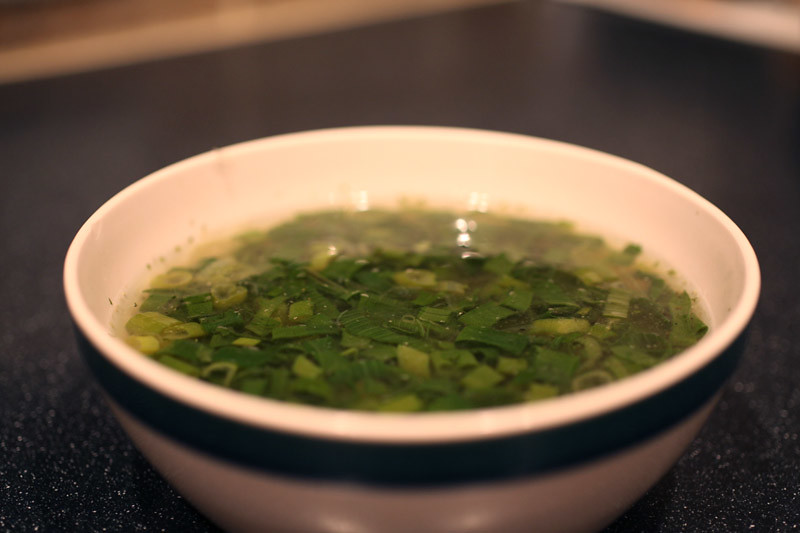Homemade Green Onion Soup