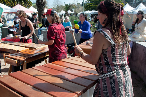 Marimba player at the Grand Lake Farmer's Market