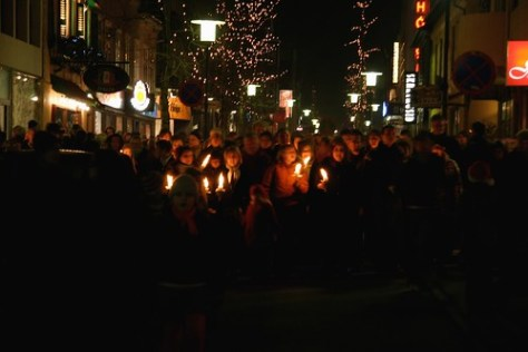 Christmas parade, Reykjavik, Iceland
