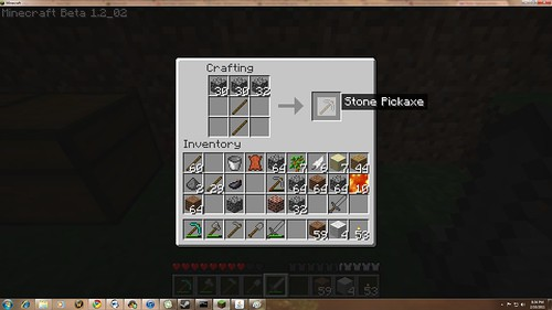 Crafting in Minecraft