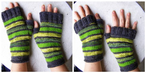 free pattern: striped glass mitts