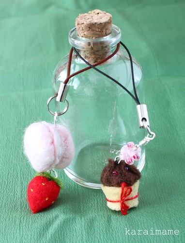 Mini felt food mobile charm
