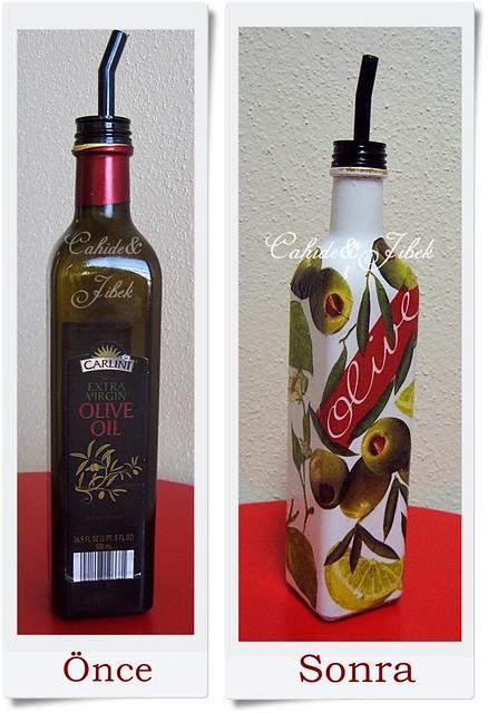 Zeytinyağ şişesi Nasıl Boyanır Cahide Sultan بسم الله