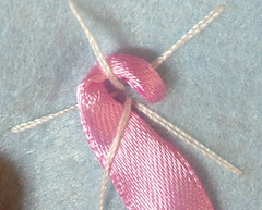 Ribbon embroidery on felt 09