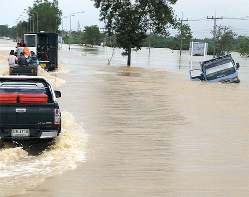 Thailand - Five Southern Provinces flooded