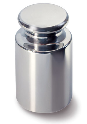 E2 Individual weights, cylindrical shape, polished stainless steel