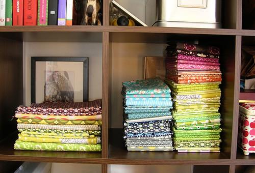 working on organizing my stash