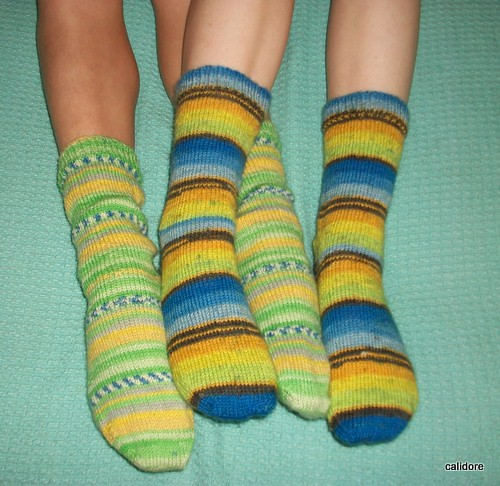 Green and Blue Socks
