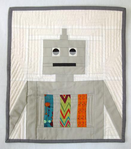 valentine's robot quilt