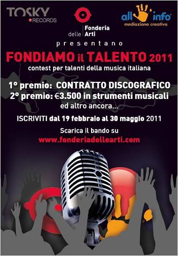 FONDIAMO IL TALENTO 2011. Primo contest della Tosky Records by cristiana.piraino