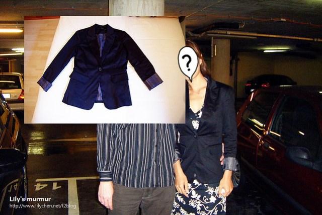 這一張是在賭場停車場拍的照片,當時就穿著在Bershka買的黑色西裝外套,搭配我的黑色小洋裝。很好看!(順便用外套照片把某人的臉遮起來)