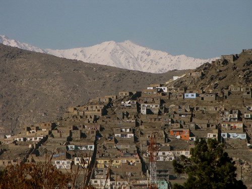 Mountains surrounding Kabul