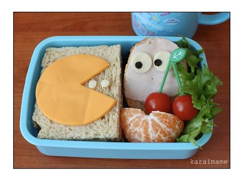 Sandwich bento - Pac-man