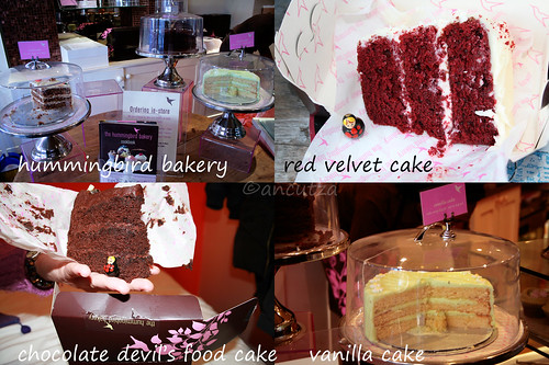 foto dei dolci di the humming bird bakery londra