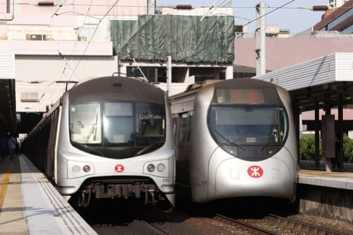 The two types of train on the East Rail line