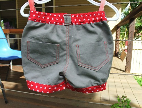 Little Star Upcycled Shorts - Back