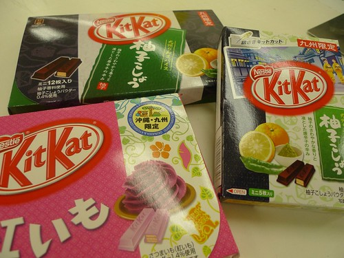 KitKat, different flavors