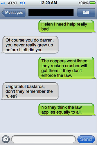 Txts from New York - Darren and Helen chat