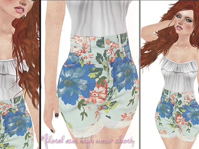jOLIE! Floral Azur High Waist Shorty