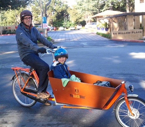 Andrew and his bakfiets
