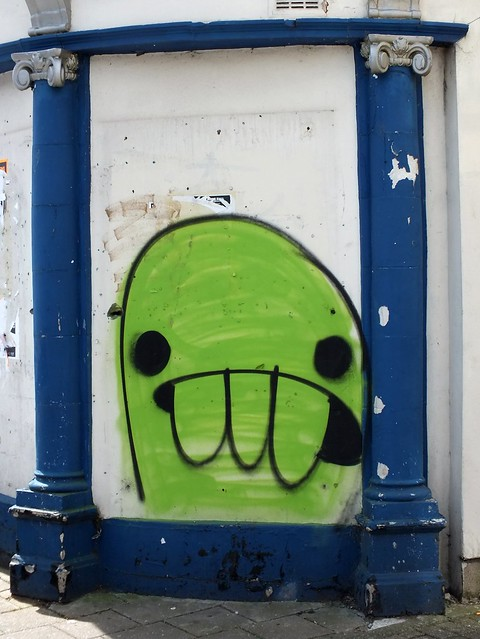 Fake Blob creature grafitti?