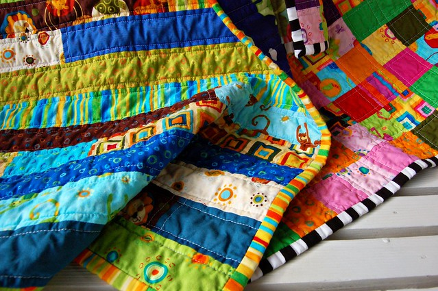 Animal Party Baby Quilts, Boy and Girl