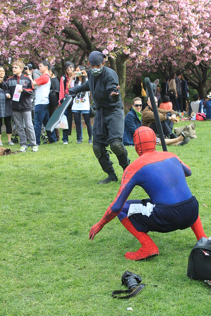Brooklyn Botanical Gardens - Ninja Baits Spiderman